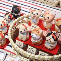 博多人形にわかけん・1,800円(税抜)/にわかニャン・1,800円(税抜)