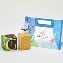 バック付きチョコレートとクッキーセット(G キューブ×5粒、クッキー×5枚、バッグ)・1,944円
