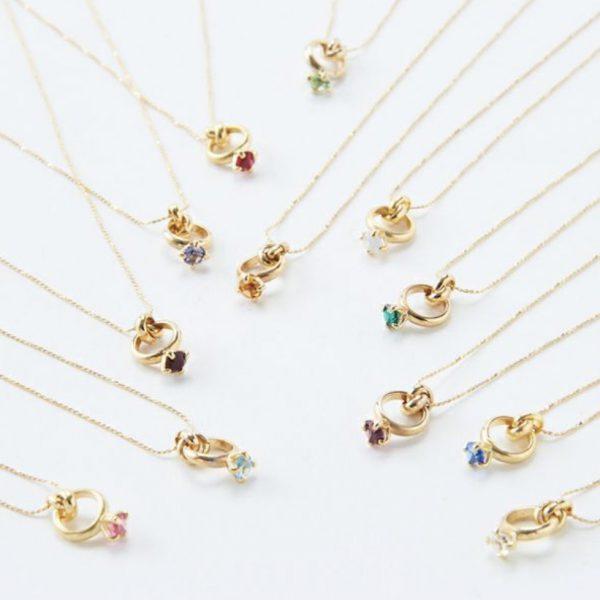 Birthstone Petit Ring Necklace