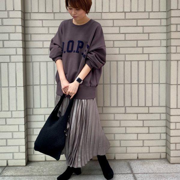 光沢感がきれい☆チンツプリーツスカート