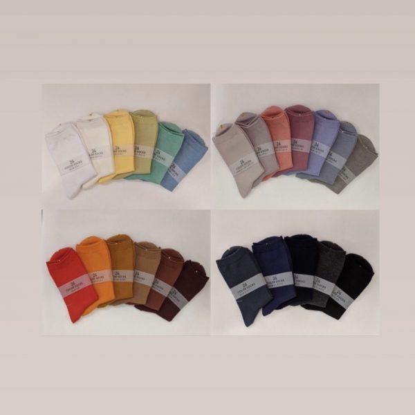 24 color socks