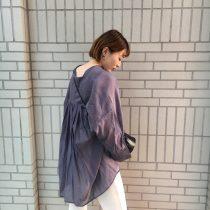 シアー感がきれい☆ドルマンシャツ